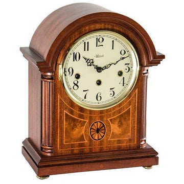 "Hermle Clearbrook 12"" Barrister Table Clock with Mechanical or Quartz Chimes"