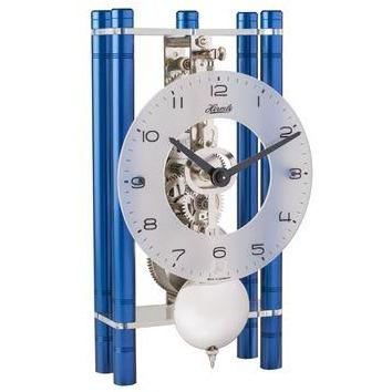 "Hermle Mikal 8"" Modern Table Clock in Black, Blue, or Gold Finish"