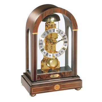 "Hermle Stratford 12"" Rich Walnut Table Clock"