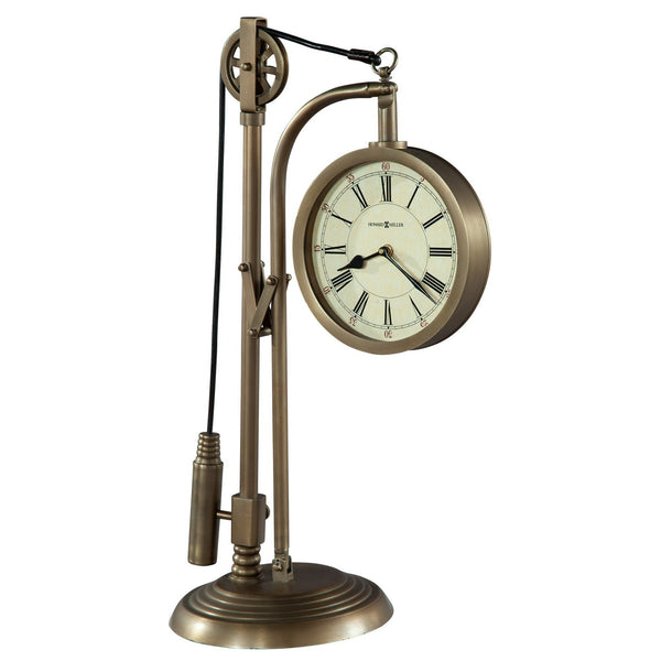 "Table Clock - Howard Miller Pulley Time 24"" Mantel Clock"