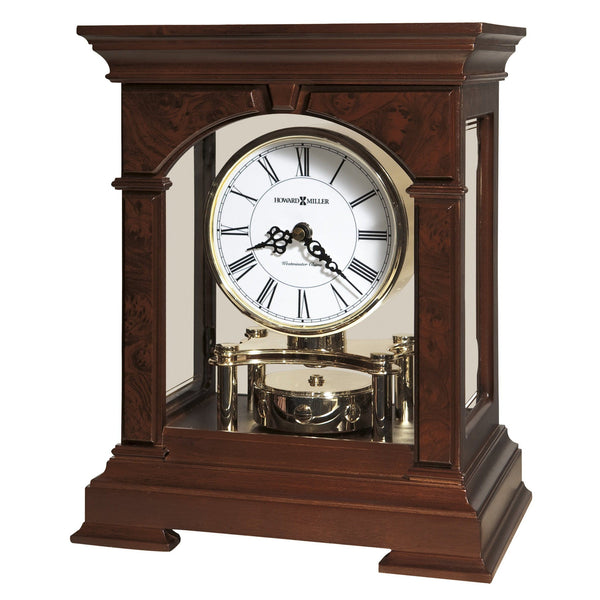 "Table Clock - Howard Miller Statesboro 12"" Mantel Clock"