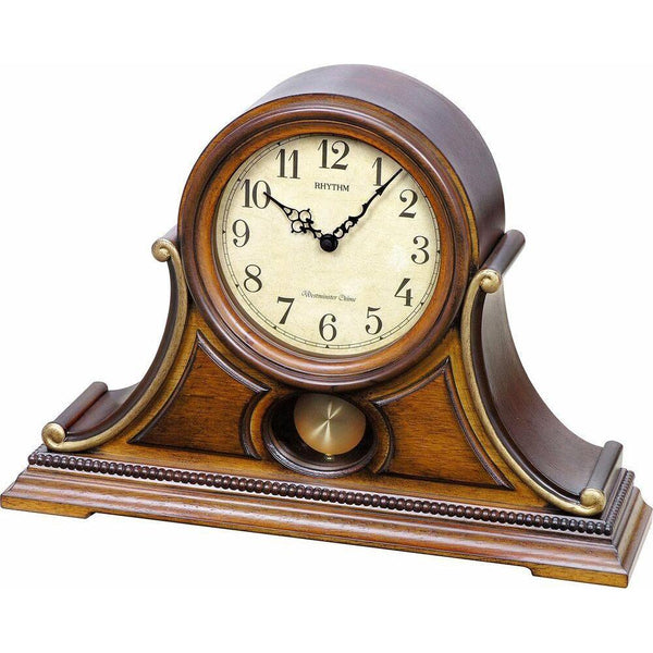 Table Clock - Rhythm Small World Lancaster Musical Motion Mantel Clock