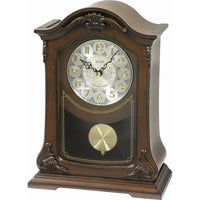 Table Clock - Rhythm Small World WSM Nice II Wooden Musical Wall Clock