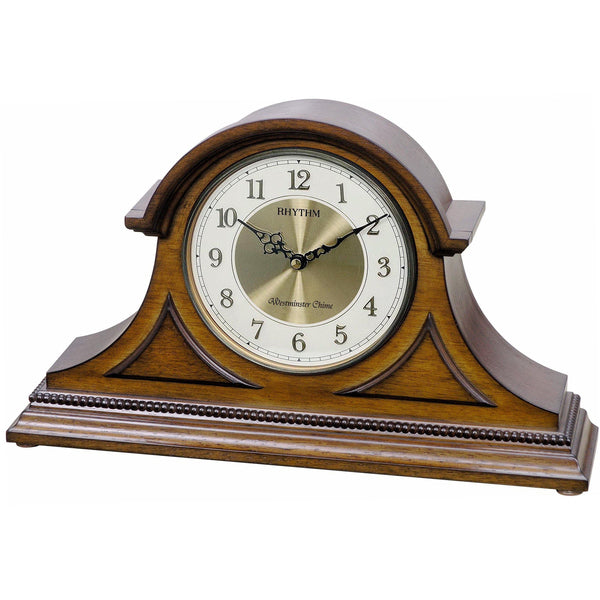 Table Clock - Rhythm Small World WSM Remington II Musical Motion Mantel Clock