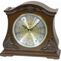 Table Clock - Rhythm Small World WSM Versailles II Wooden Musical Mantel Clock