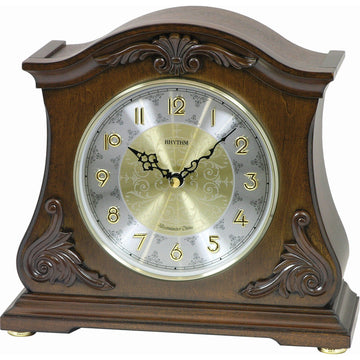 Rhythm Small World WSM Versailles II Wooden Musical Mantel Clock