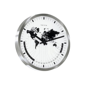 "Hermle Airport 12"" Global Timezones Wall Clock"