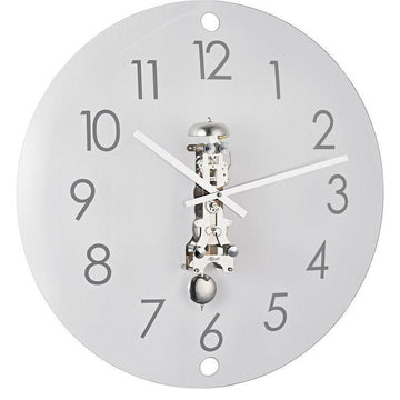 "Hermle Ava 22"" Contemporary Wall Clock in Brass or Nickel"