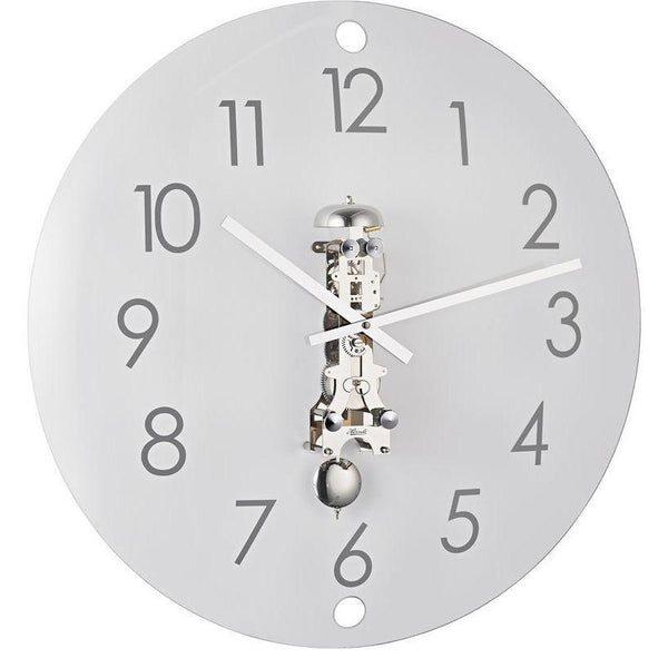 "Wall Clock - Hermle Ava 22"" Contemporary Wall Clock In Brass Or Nickel"