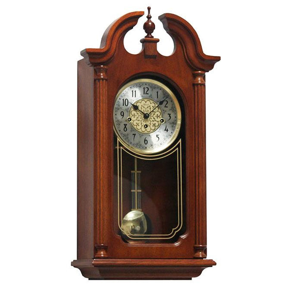 "Wall Clock - Hermle Hopewell 25.5"" Cherry Finish Traditional Wall Clock"