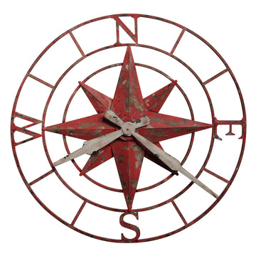 "Howard Miller Compass Rose 32"" Wall Clock"