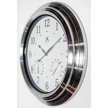 "Infinity Instruments Churchill 18.5"" Indoor/Outdoor Wall Clock"