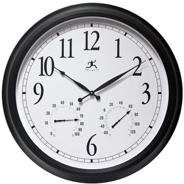 "Infinity Instruments Classic Outdoor 24"" Wall Clock"
