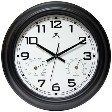 "Infinity Instruments Garden 18"" Outdoor Wall Clock"