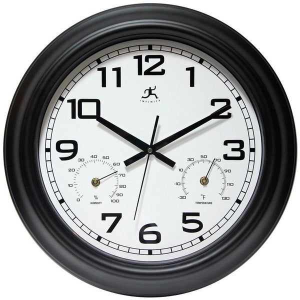 "Wall Clock - Infinity Instruments Garden 18"" Outdoor Wall Clock"