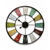 "Wall Clock - Infinity Instruments Multi-Color Kaleidoscope 24"" Wall Clock"