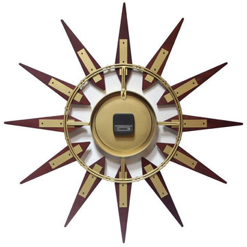 "Infinity Instruments Orion Starburst 30"" Contemporary Wall Clock"