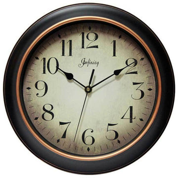 "Infinity Instruments Precedent 12"" Traditional Wall Clock"