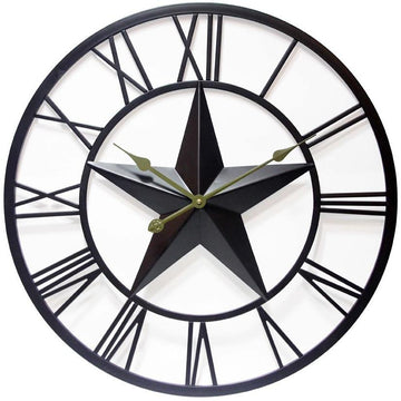 "Infinity Instruments The Patriot Star 27"" Indoor/Outdoor Wall Clock"