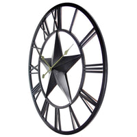 "Wall Clock - Infinity Instruments The Patriot Star 27"" Indoor/Outdoor Wall Clock"