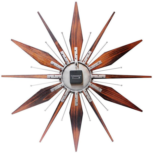 "Wall Clock - Infinity Instruments Utopia Starburst 30"" Transitional Wall Clock"