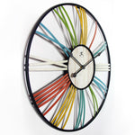 "Wall Clock - Infinity Instruments Wagon Wheel 27"" Wall Clock"