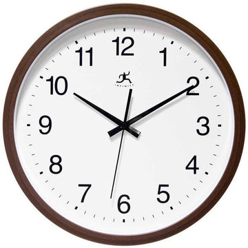 "Infinity Instruments Walnut Finish 14"" Wall Clock"