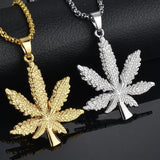 Small Weed Charm Necklace