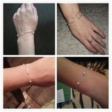 Silver Fashion Bead Bracelets