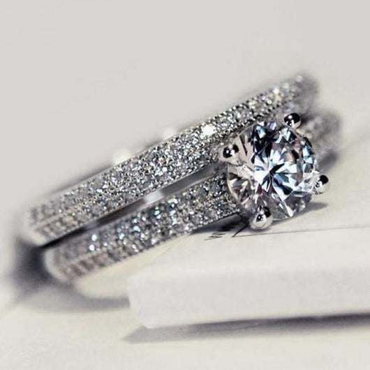 Sparkling  Wedding Ring Set