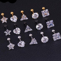 Crystal Zircon  Ear Piercing