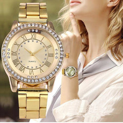 Casual Rhinestone Quartz Watch