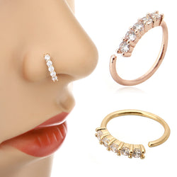 Vintage Five Crystals Nose Ring