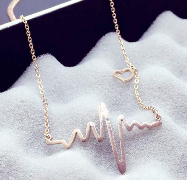 Romantic Heartbeat Necklace