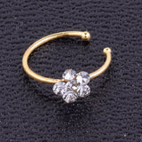 Crystal  Flower Nose Stud