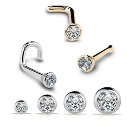 Zircon Gem Nose Stud