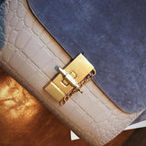 Crocodile Nubuck Satchel
