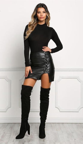 Tylor Lace Up Skirt
