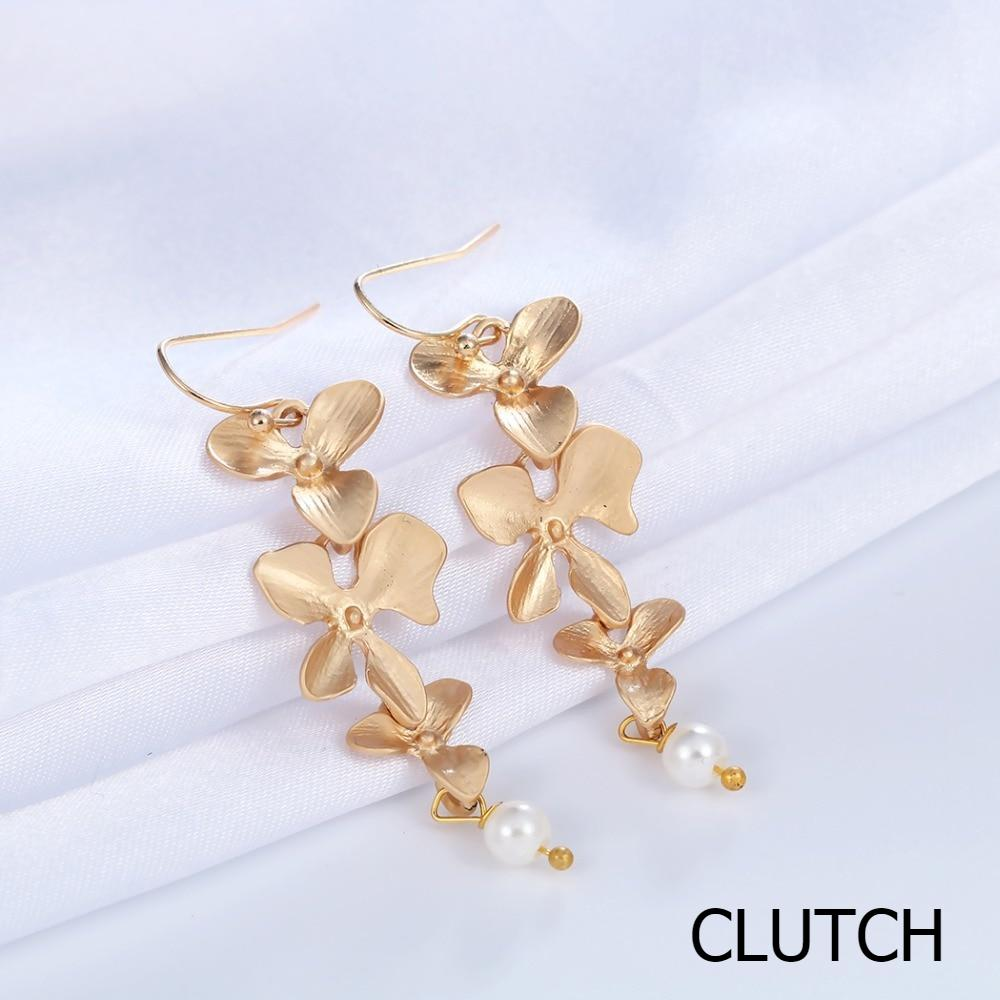 Orchid Floral Earrings