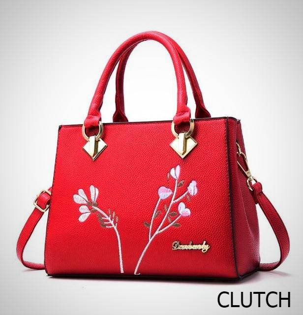 Embroidered Leather Tote