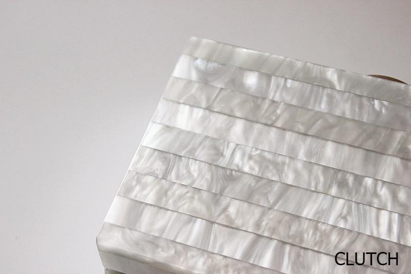 Marble Striped Clutch