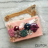 Flowers and Pearls Clutch