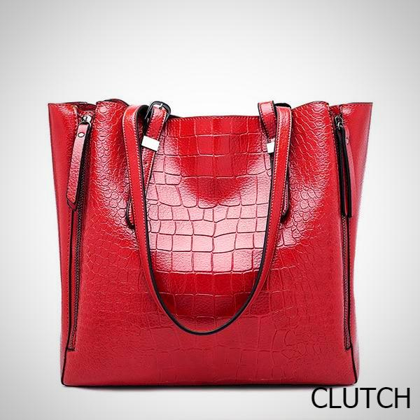 Faux Crocodile Tote Bag
