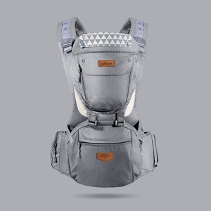 Ergonomic HipSeat Carrier (6 In 1) - Gray