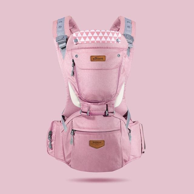 Ergonomic HipSeat Carrier (6 In 1) - Pink
