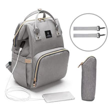 Load image into Gallery viewer, MamaLuv Diaper Bag - Grey