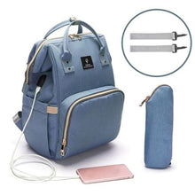 Load image into Gallery viewer, MamaLuv Diaper Bag - Light Blue