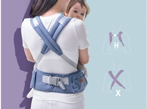Ergonomic HipSeat Carrier (6 In 1)