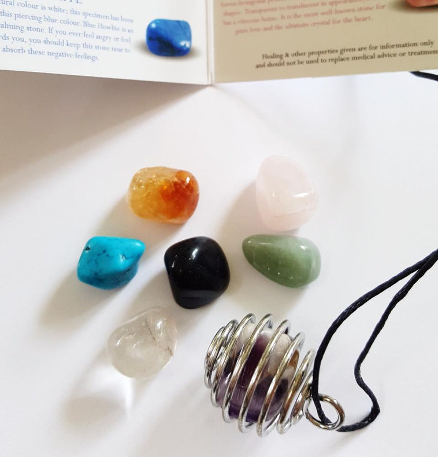 Gem Stone Pendant Set