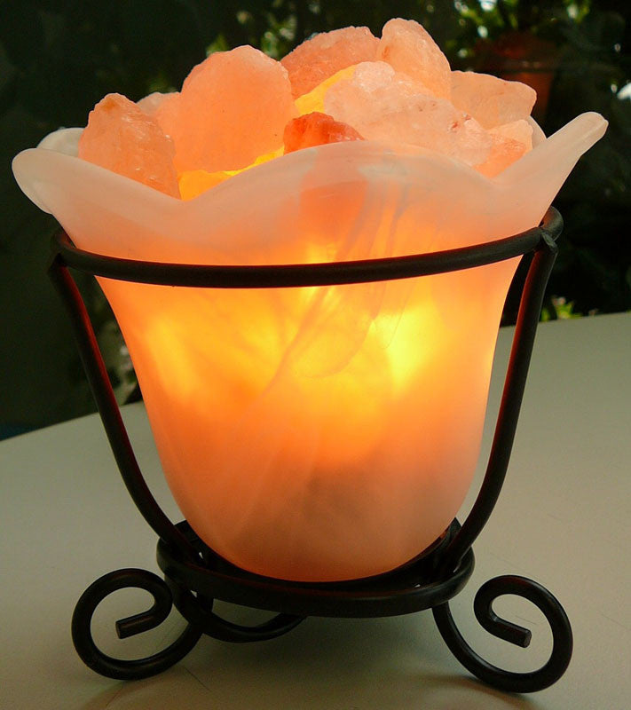 Himalayan Salt Lamp - Rocks in Glass Bowl